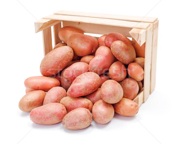 Czerwony ziemniaki skrzynia świeże wole Zdjęcia stock © erierika