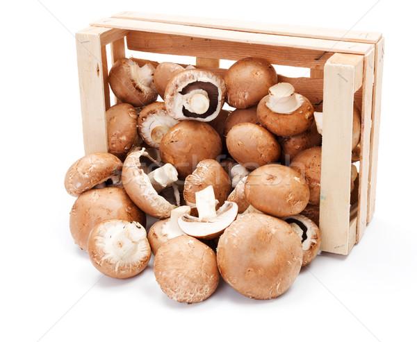 Megművelt barna fából készült láda ki étel Stock fotó © erierika