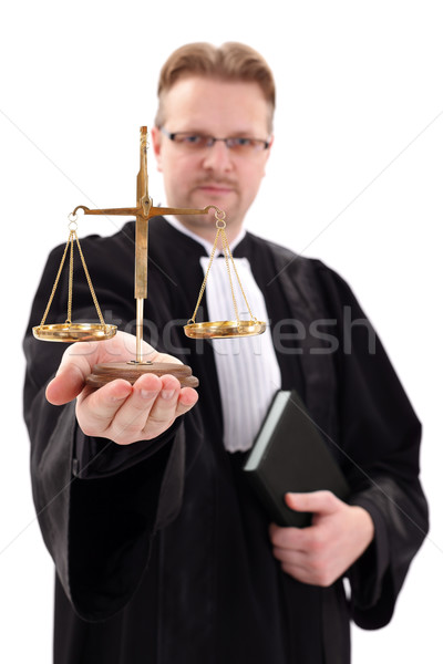 Judge showing scale of justice Stock photo © erierika