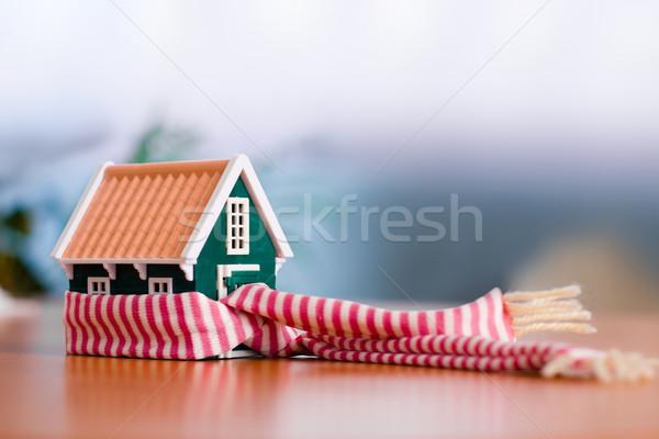 Casa cachecol em torno de miniatura ver Foto stock © erierika