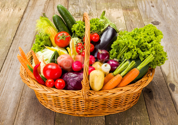 Basket with various fresh vegetables  Stock photo © erierika