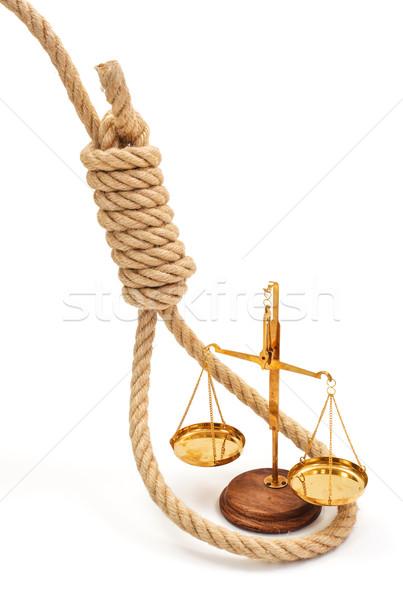 Miniatura scala view giustizia bianco Foto d'archivio © erierika