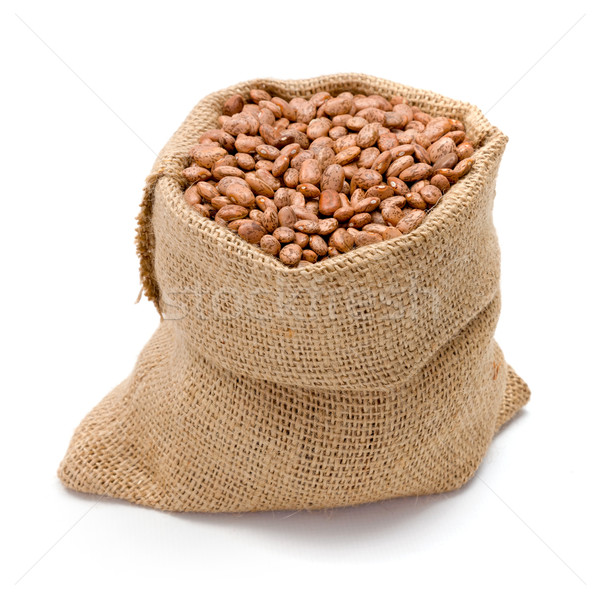 Pinto beans in burlap bag Stock photo © erierika