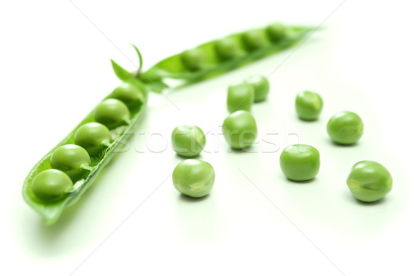 Green pea pod and seeds Stock photo © erierika