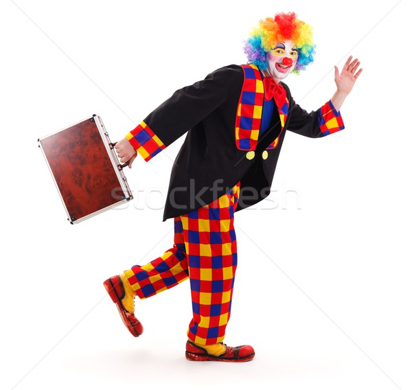 Clown with briefcase Stock photo © erierika