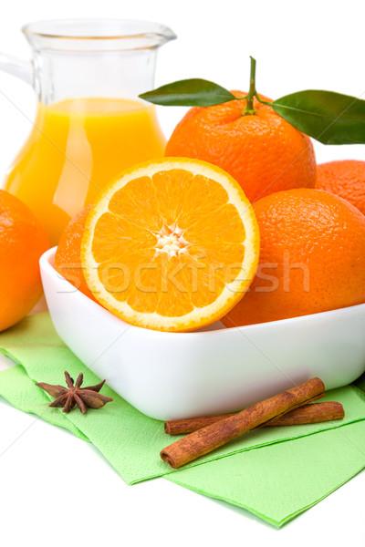 Naranja frutas jarra jugo maduro frescos Foto stock © erierika