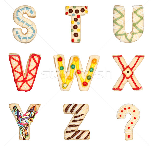 Letters S to Z from decorated cookies Stock photo © erierika