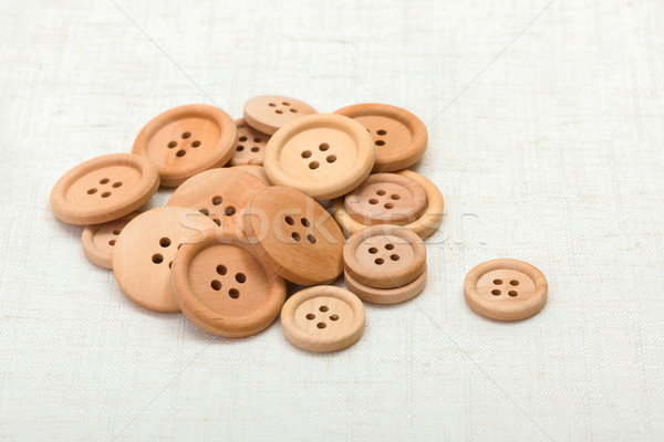 Handful of wooden buttons Stock photo © erierika