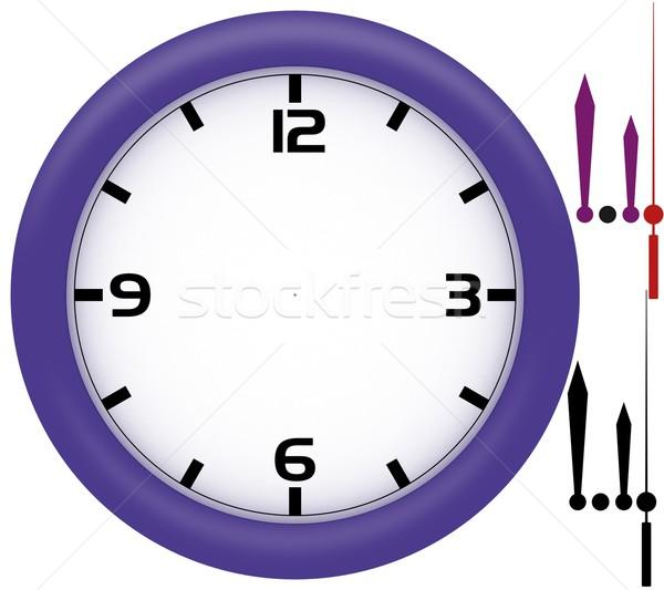 Simples relógio violeta plástico quadro mãos Foto stock © erierika