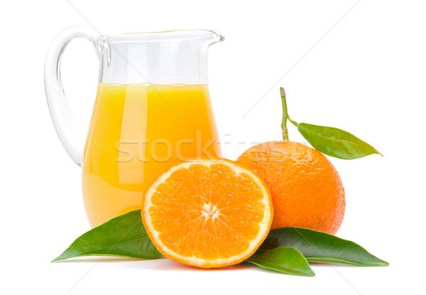 Narancs gyümölcsök kancsó dzsúz érett friss Stock fotó © erierika