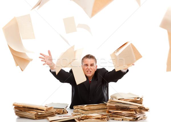 男 書類 怒っ ビジネスマン ストックフォト © erierika