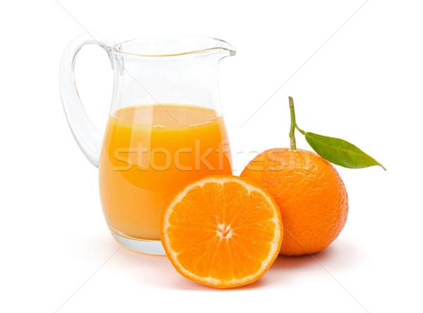 Mandarim tangerina suco fresco jarro cítrico Foto stock © erierika