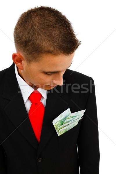 Man looking at banknotes Stock photo © erierika
