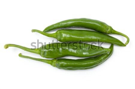 Green chilies bunch Stock photo © erierika
