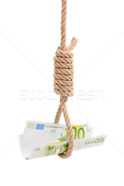 Money in gallows rope Stock photo © erierika