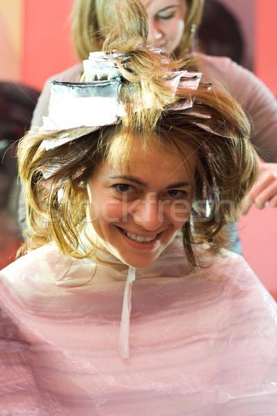At the hair stylist Stock photo © erierika
