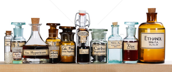 Farmacia botellas homeopáticos medicina Foto stock © erierika