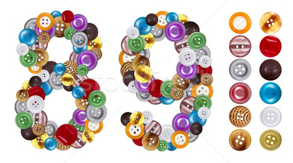 Numbers 8 and 9 made of clothing buttons Stock photo © erierika