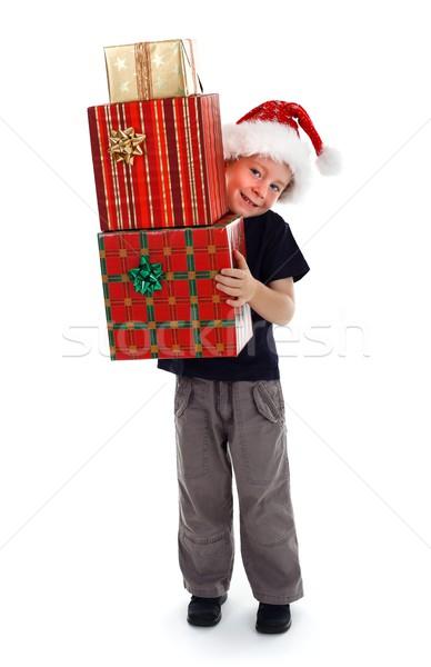Sorridere ragazzo presenta felice bambino Foto d'archivio © erierika