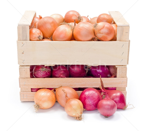 Crates with onions Stock photo © erierika