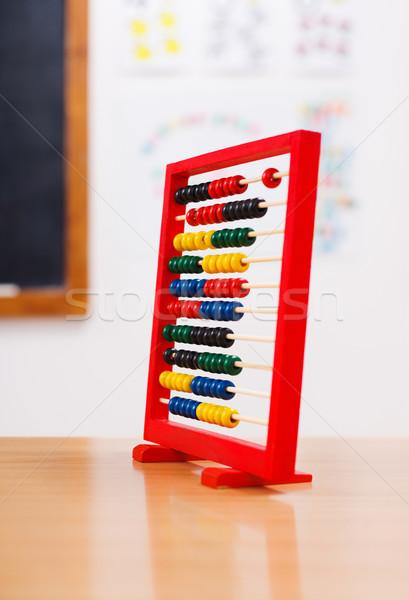 ábaco classe quarto vermelho escolas sala de aula Foto stock © erierika