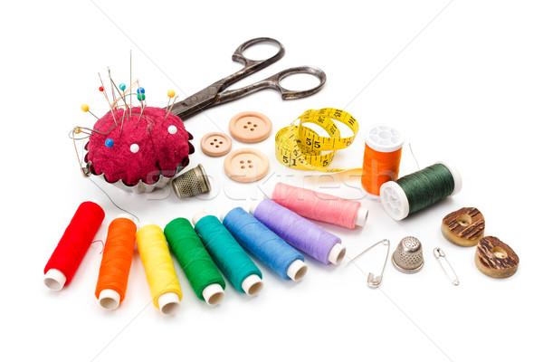 Kleurrijk naaien schaar meetlint tools Stockfoto © erierika