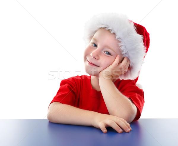 Bonitinho natal menino sessão tabela Foto stock © erierika