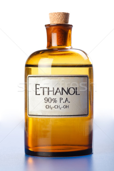 Etanol puro alcohol botella concentrado Foto stock © erierika