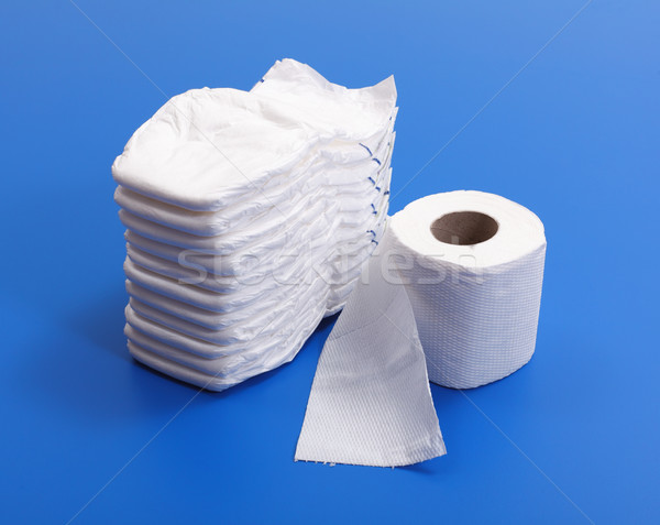Diapers and toilet paper roll Stock photo © erierika