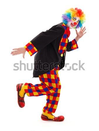 Clown hitting alarm clock with hammer Stock photo © erierika