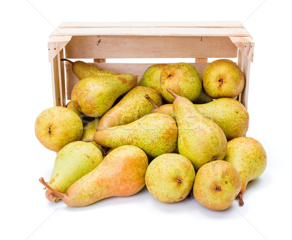 Spilled pears from wooden crate Stock photo © erierika