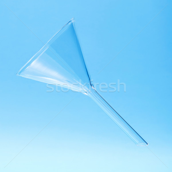 Clear chemistry glass funnel Stock photo © erierika