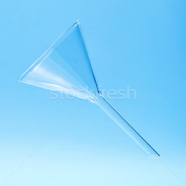 химии стекла воронка синий медицинской лаборатория Сток-фото © erierika