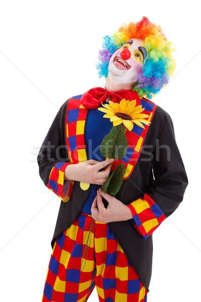 Clown with big yellow flower Stock photo © erierika
