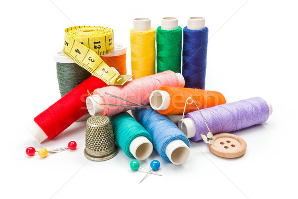 Stock photo: Various sewing accessories