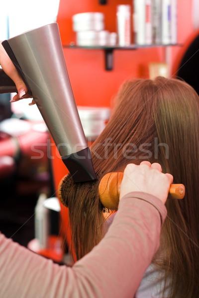 Hair drying Stock photo © erierika
