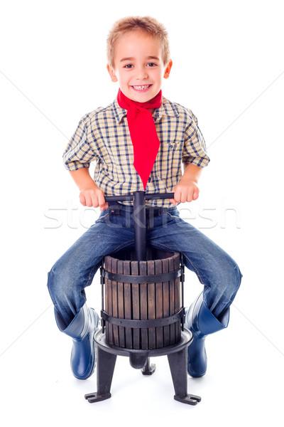 Casual jeans menino pequeno sessão manual Foto stock © erierika