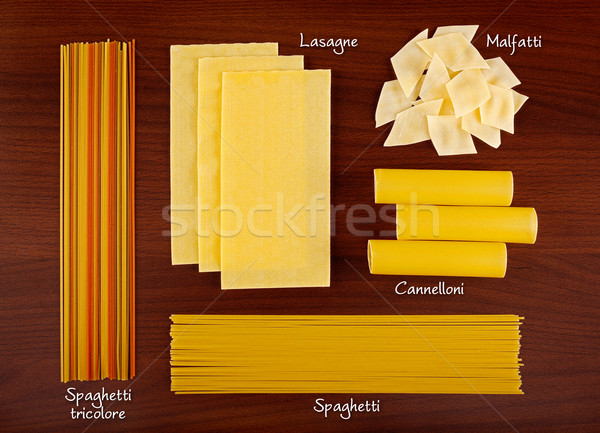 Pasta collection 4. Stock photo © erierika