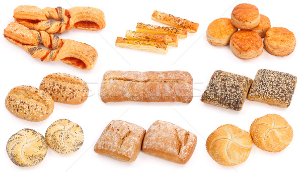 Gebacken Produkte Collage unterschiedlich Essen gesunden Stock foto © erierika