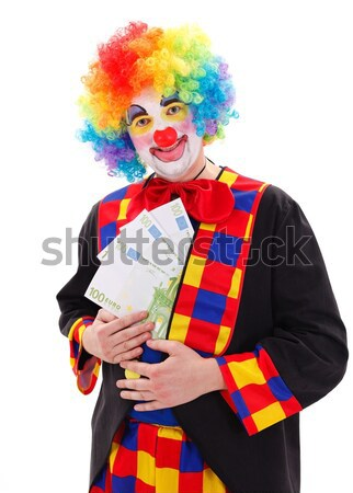 Clown showing big money Stock photo © erierika