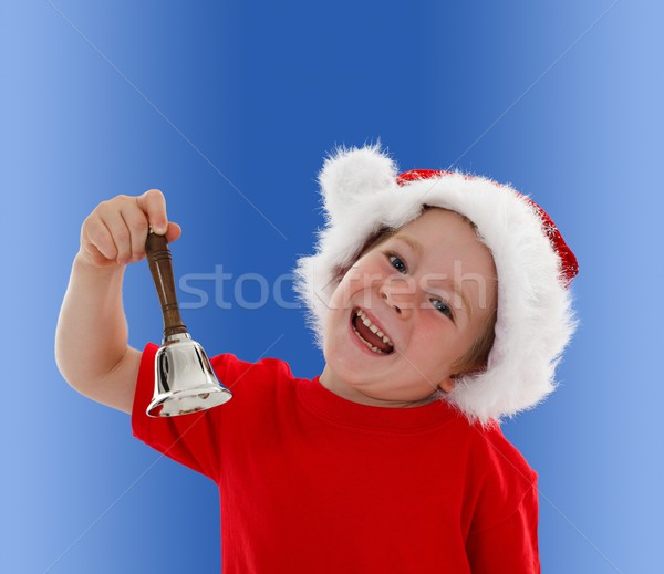 Happy child ringing hand bell Stock photo © erierika