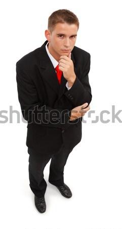 Zakenman denken top zakenman Stockfoto © erierika