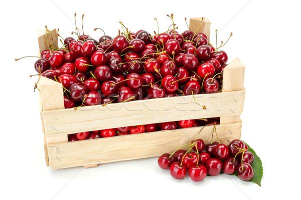 Słodkie wiśni skrzynia świeże dojrzały Zdjęcia stock © erierika