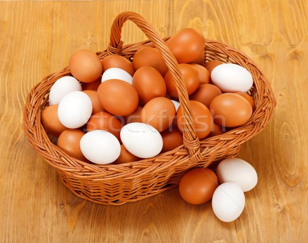 Сток-фото: куриные · яйца · корзины · фон · здорового