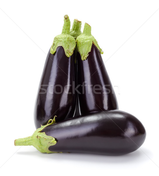 Several fresh ripe eggplants (Solanum melongena) Stock photo © erierika