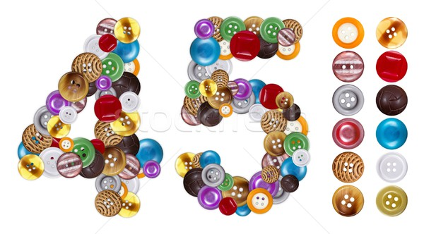 Numbers 4 and 5 made of clothing buttons Stock photo © erierika