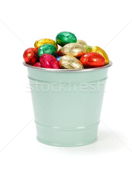 Colorful chocolate eggs Stock photo © erierika