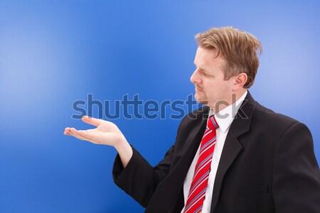 Homme d'affaires imaginaire objet bleu Photo stock © erierika