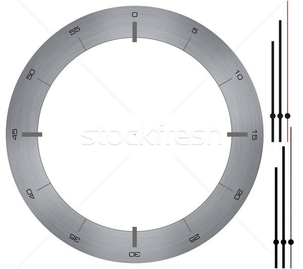 Eenvoudige klok metaal bellen witte handen Stockfoto © erierika