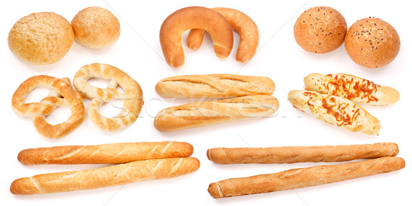 Sült termékek kollázs különböző étel barna Stock fotó © erierika